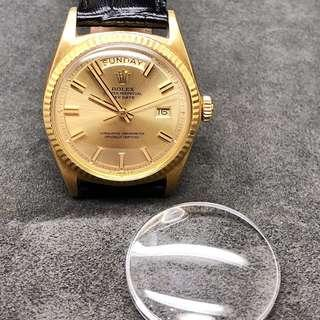 Dome Crystal for Rolex 1803 Day Date Gold Watch