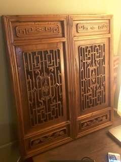 中式木窗框