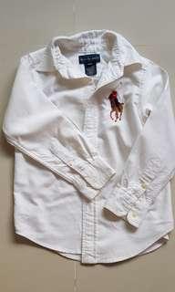 Ralph Lauren White Long Sleeve Shirt