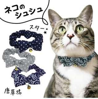 日式泥棒花紋 🧝🏻♀️ 貓貓頸圈
