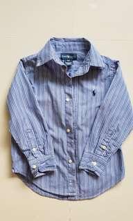 Ralph Lauren Blue Stripe Shirt