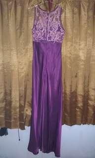 Long Dress Purple (gaun malam/pesta)