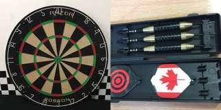 For Sale! Robson Dart Board with pins