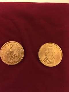 美國一元硬幣(少有)