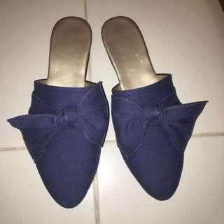 Denim Mules size 8