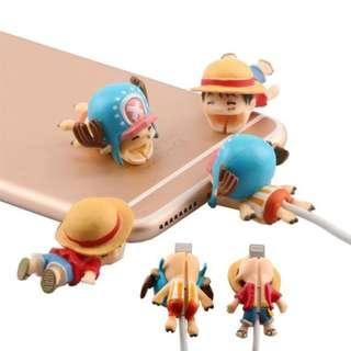 One Piece Luffy and Chopper Cable Bites For iPhone