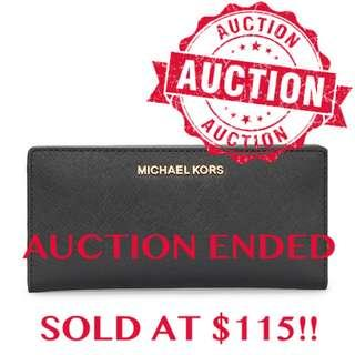"""⏰ENDING SOON!! Auction """"Like"""" & """"Bid"""" Authentic Brand New Michael Kors Jet Set Travel Large Card Case Carryall Wallet From USA Suggested Retail: $385"""
