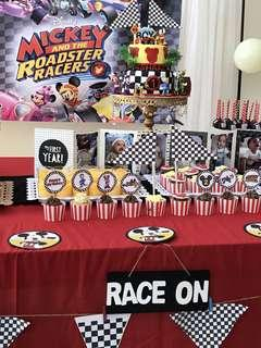 Mickey and the roadster racers dessert table
