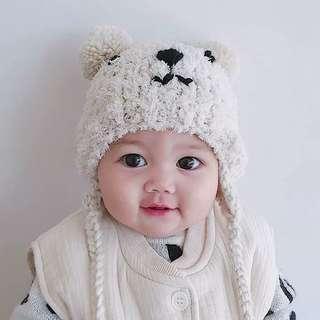 Teddy Fleece Baby Hat Ear Warmies
