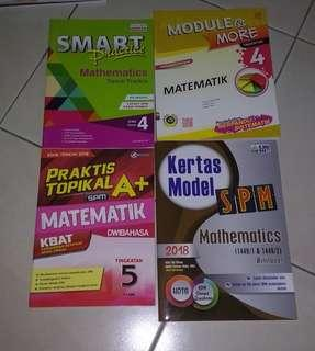 SPM Mathematics Reference Books Workbook Revision Maths Form 4 Form 5