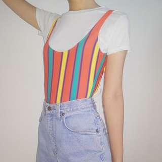 Ellesse Multicoloured Stripe Bodysuit