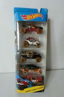 Hot Wheels Set of 5 Desert Force