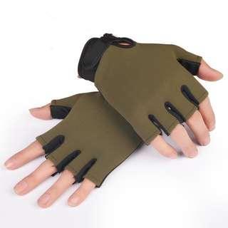 Men Anti-Slip Sport Half-Finger Gloves