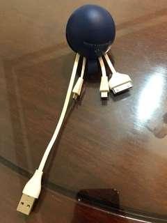 電話充電線(萬用頭)