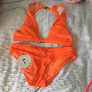 neon orange bikini set new
