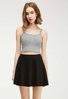 Forever 21 Classic Black Skater Skirt