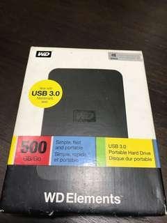 External Hard Disk 500GB and SD Card 4GBx2 8GBx2
