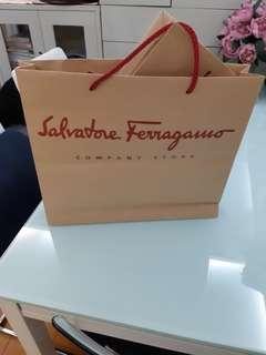 Salvatore Ferragamo paper bags