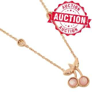 """Auction """"Like"""" & """"Bid"""" Authentic Brand New Coach Cherry Pendant Necklace From USA Suggested Retail: $198"""