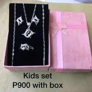 Genuine 925 Italy silver set for kid