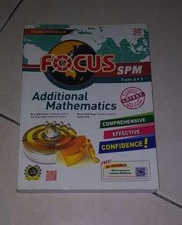 #MMAR18 SPM FOCUS Addmaths Additional Mathematics Reference Book Revision Workbook Form 4 Form 5