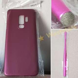 Samsung S9 Plus Thin Slim Hard Case Cover (Purple) + Stylus