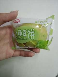 抹茶綠豆餅