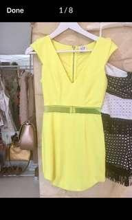 Hello Molly Yellow Dress, NEW