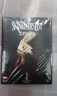 DVD 舒特拉的名單 利安里遜賓京士利日版雙碟中英文字幕