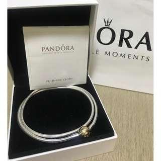 原價$3999 全新14K Pandora silver & gold Necklace