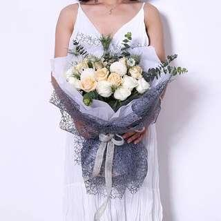 Netted Design Bouquet Wrapper