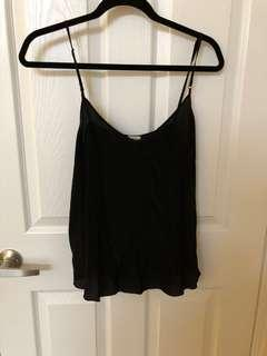 Wilfred Silk Cami in Black