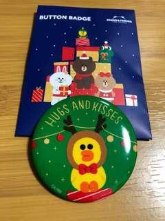 Line friends 聖誕襟章
