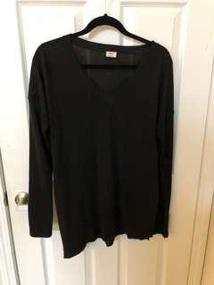 Wilfred Black Vneck Top