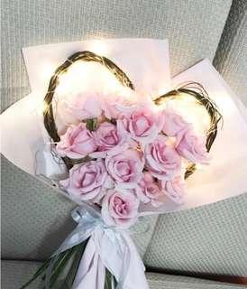 Heart shaped branch bouquet design
