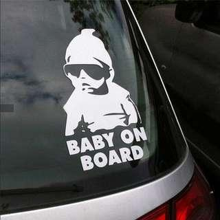 Baby on Board Vinyl Car Decal / Sticker