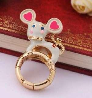 BETSEY JOHNSON Cute MOUSE RING