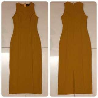 Doublewoot Detanifer  Dress (Mustard)