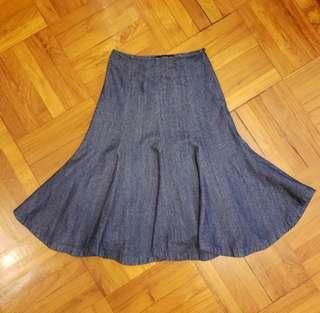 🈹️Z-2 型格全绵荷葉腳牛仔裙