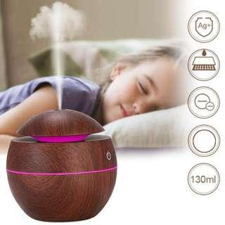 USB Aroma Essential Oil Diffuser Ultrasonic Cool Mist Humidifier (7 Color Change LED)