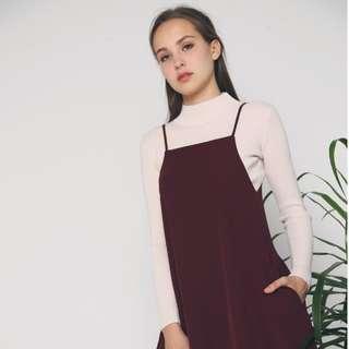 996df5f875 Hollyhoque Sarni Pocket Shift Dress In Oxblood
