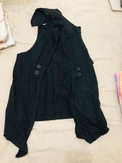 Vest hitam katun kaos teenage wanita