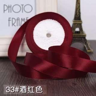 Wine Satin Ribbon