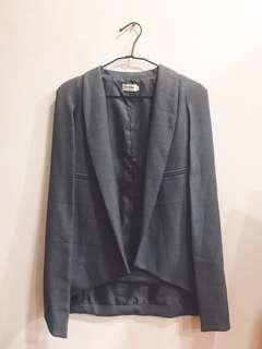 【Air Space】灰色披肩西裝外套