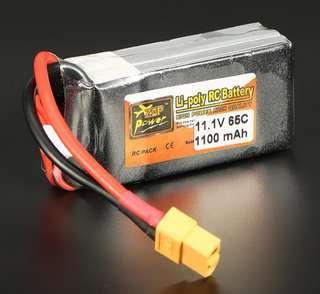 4🔥ZOP Power 11.1V 1100mAh 65C 3S Lipo Battery XT60 Plug