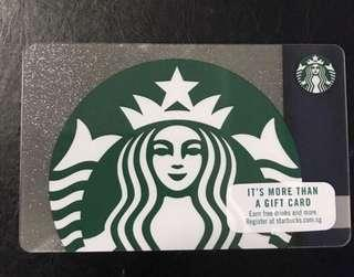 🚚 Starbucks Gift Card (seal intact/ 0 value)