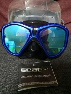 Seac italia mask metal mirrored Asian fit
