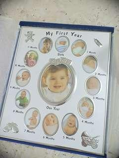 Baby Photo Frame 12months Milestone