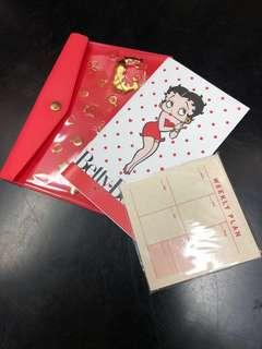 🚚 Betty Boop Stationery Holder + a Betty note book + a Mini weekly Planner/Free Local Mail /12.5cmx 17cm