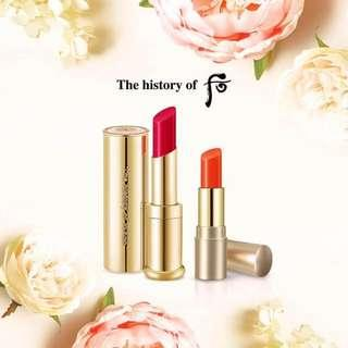 🚚 The History of Whoo - Gongjinhyang Mi Glow Lip Balm #Rose SPF10 Special Set: #Rose 1pc + #Orange 1pc